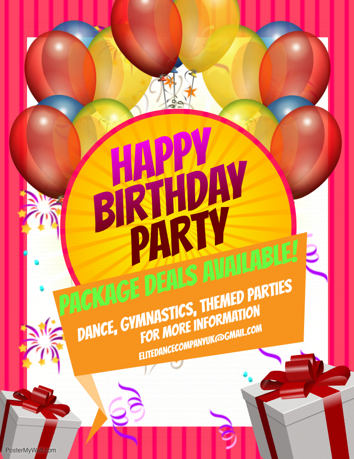 Copy of Birthday Party Flyer – Made with PosterMyWall